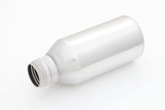 Aluminum bottle. Blank aluminum bottle on white background Stock Photography