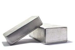 Aluminum box Royalty Free Stock Image