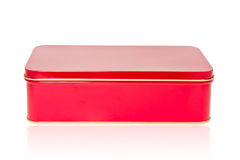 Aluminum box red Stock Photography
