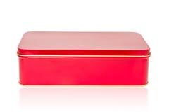 Aluminum box red Stock Photography