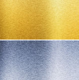 Aluminum and brass stitched textures Royalty Free Stock Images