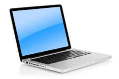 aluminum bärbar dator Royaltyfri Fotografi