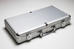 Aluminum Briefcase Stock Photo
