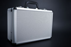 Aluminum Briefcase Stock Photography