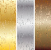 Aluminum, bronze and brass stitched Stock Photo