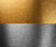 Aluminum and bronze stitched textures Stock Photos