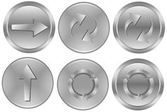 Aluminum buttons Royalty Free Stock Photos