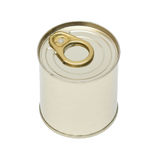 Aluminum can. Aluminum key-opening can. Isolation Stock Photography