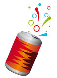 Aluminum can. With a refreshing drink Stock Image
