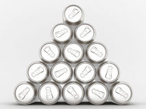 Aluminum can. Image sealed aluminum can with a drink Royalty Free Stock Photos