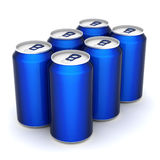 Aluminum can. Image sealed aluminum can with a drink Royalty Free Stock Photo