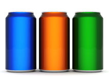 Aluminum can. Image sealed aluminum can with a drink Royalty Free Stock Images