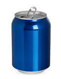 Aluminum can. Open, isolated on white stock photography