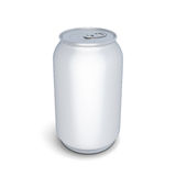 Aluminum can for beer or soda Stock Images