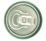 Aluminum can closeup Stock Image