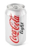 Aluminum can of Coca-Cola Light Stock Photos