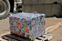 Aluminum Can Cube Royalty Free Stock Photography