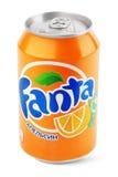 Aluminum can of Fanta Royalty Free Stock Photos