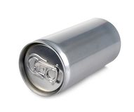 Aluminum can of 200 ml prosecco,  and blank Stock Photos