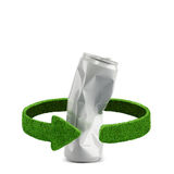 Aluminum can. Recycling concept isolation on white Royalty Free Stock Image