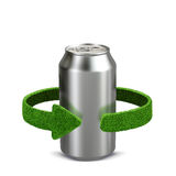 Aluminum can. Recycling concept isolation on white Royalty Free Stock Photo