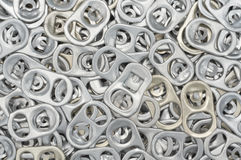 Aluminum can ring pull Royalty Free Stock Images