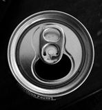 Aluminum can top. Opening stock photo