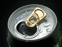 Aluminum can with water drops Royalty Free Stock Photography