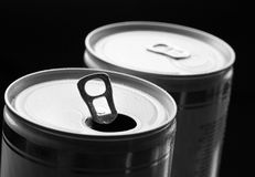 Aluminum can with water drops Stock Photography