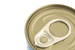 Aluminum canned food isolated on white background Stock Photos