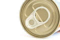 Aluminum canned food isolated on white background Royalty Free Stock Image