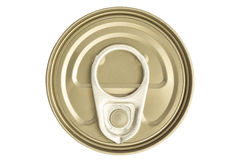Aluminum canned food isolated on white background Royalty Free Stock Images