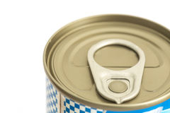 Aluminum canned food isolated on white background Stock Photography