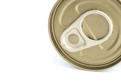 Aluminum canned food isolated on white background Royalty Free Stock Photo