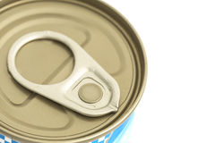 Aluminum canned food isolated on white background Stock Image