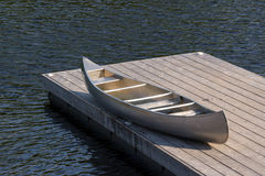 Aluminum canoe Royalty Free Stock Images