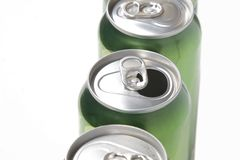 Aluminum cans Royalty Free Stock Photos