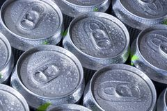 Aluminum cans Royalty Free Stock Images