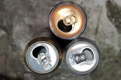 Aluminum cans Stock Photos