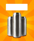 Aluminum cans with blank space for Stock Image