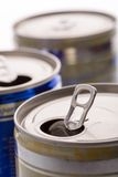 Aluminum cans closeup picture Royalty Free Stock Images