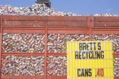 Aluminum cans collected Royalty Free Stock Image