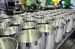 Aluminum Cans in factory warehouse Royalty Free Stock Photography