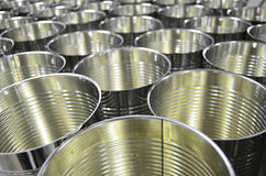 Aluminum Cans in factory warehouse Stock Images