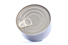 Aluminum cans food,. Isolated white background Royalty Free Stock Image
