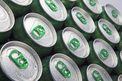 Free Aluminum Cans In Drops Of Water Stock Photos - 13721713