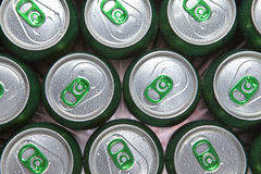 Free Aluminum Cans In Drops Of Water With Keys Close-up Royalty Free Stock Photography - 12287507
