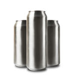 Aluminum cans isolated on white. Stock Photos