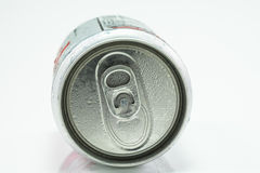 Aluminum cans isolated on white Royalty Free Stock Images