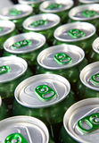 Aluminum cans with keys Stock Photography